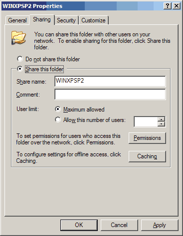 установка по сети windows: